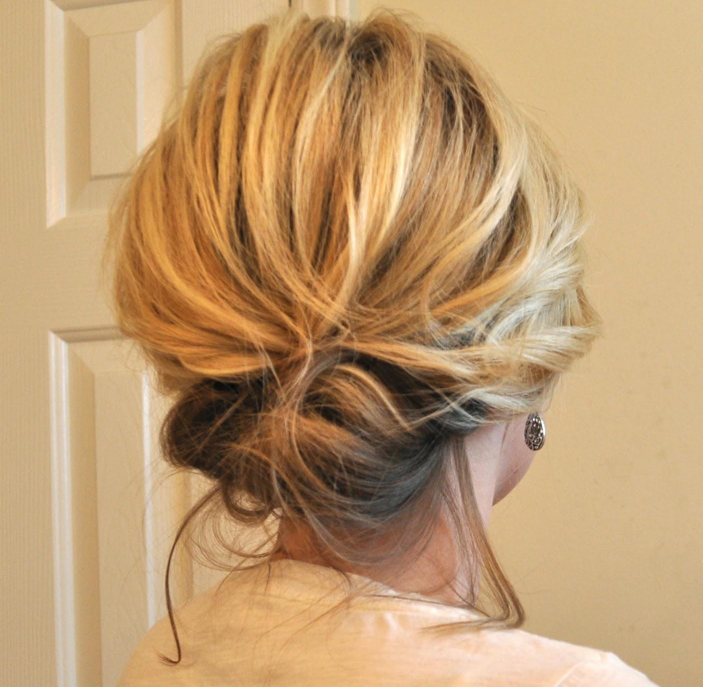 Прическа на средние волосы шпильками фото