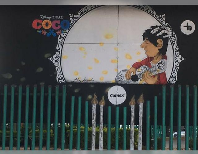 Conoce los murales inspirados en la pel cula de disney for El mural pelicula