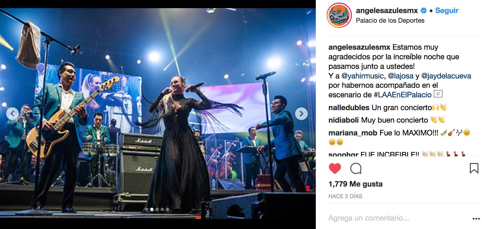 Los Ángeles Azules se encuentran mejor que nunca y de nuevo a enamoraron a su público con una presentación muy especial.