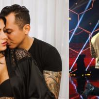 Edwin Luna le pide matrimonio a Kimberly Flores en programa en vivo