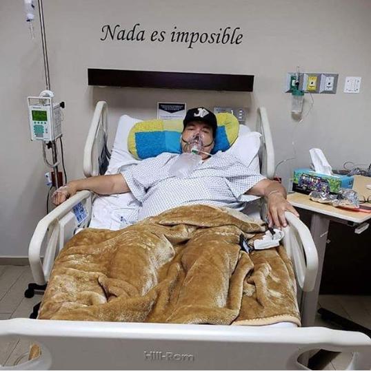 Julio Preciado en el hospital