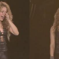 Shakira no aguanta más y rompe en llanto frente a sus fans