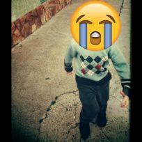 Niño huye del recalentado