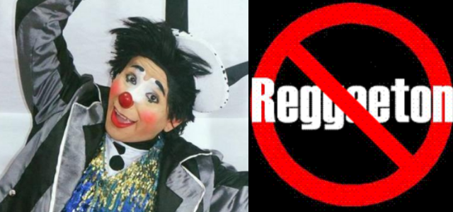 Payaso lanza campaña anti reggaetón en redes sociales