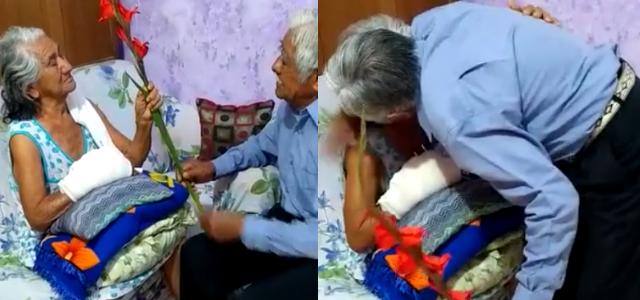 """""""Te amo hasta el fin de mi vida"""" abuelito se hace viral por bella declaración"""