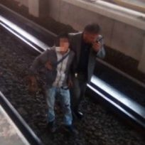 ladrón cae a las vías del metro