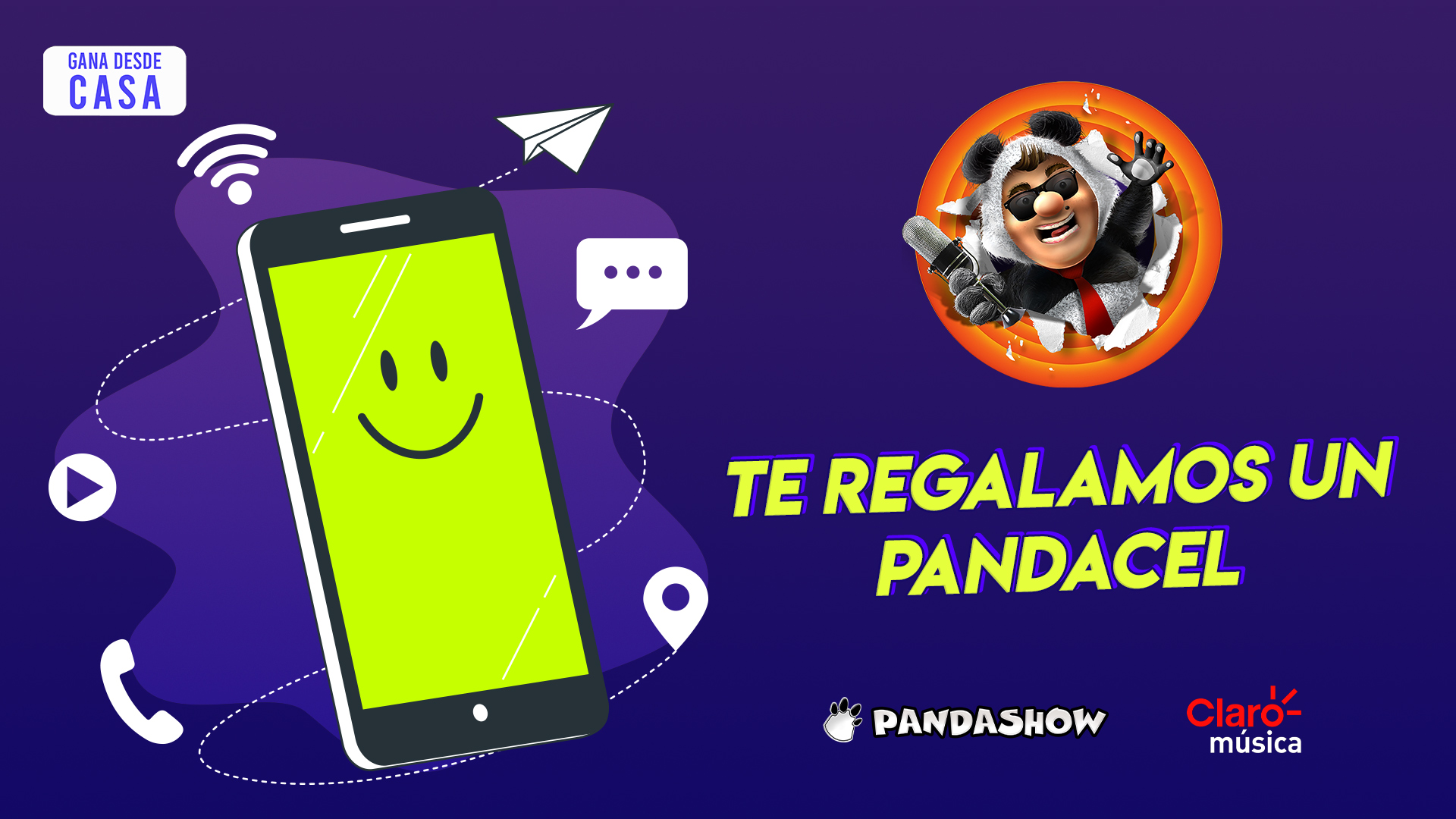 Todo el mes de abril gana el Pandacel, el teléfono oficial del Pandashow