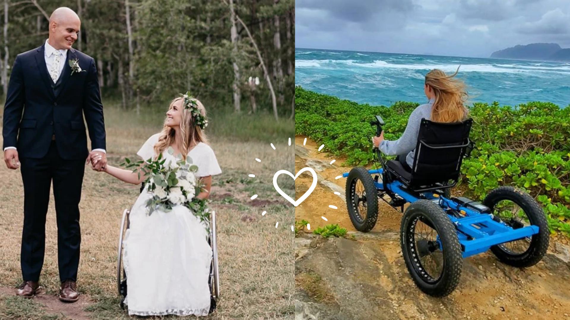 Crea silla de ruedas a todo terreno para su esposa y le cambia la vida