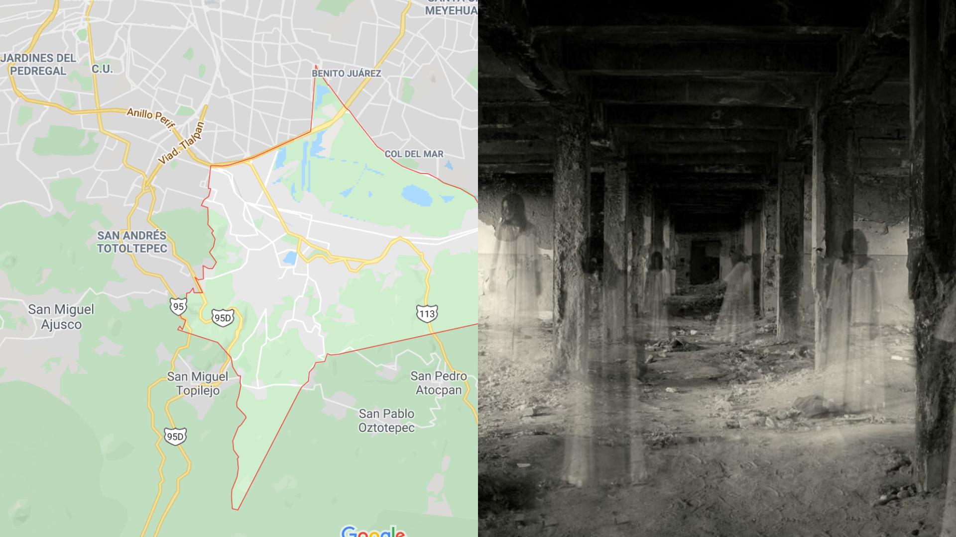 Mapa de los lugares más terroríficos en la Ciudad de México