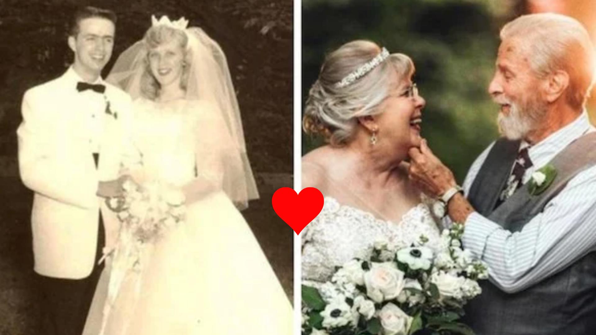 Parejas recrean sus fotos de novios de hasta 50 años después