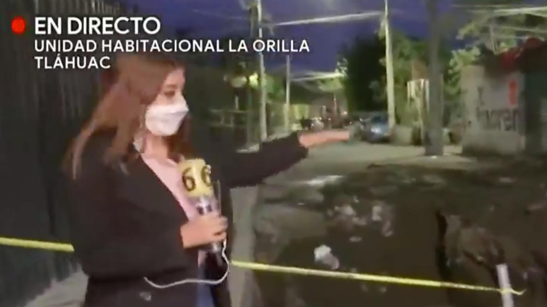 Camarógrafo se cae a socavón en plena transmisión en vivo