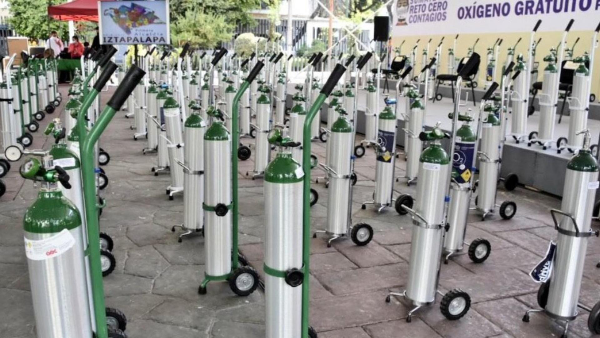 Iztapalapa prestará tanques de oxígeno a los enfermos que lo necesiten