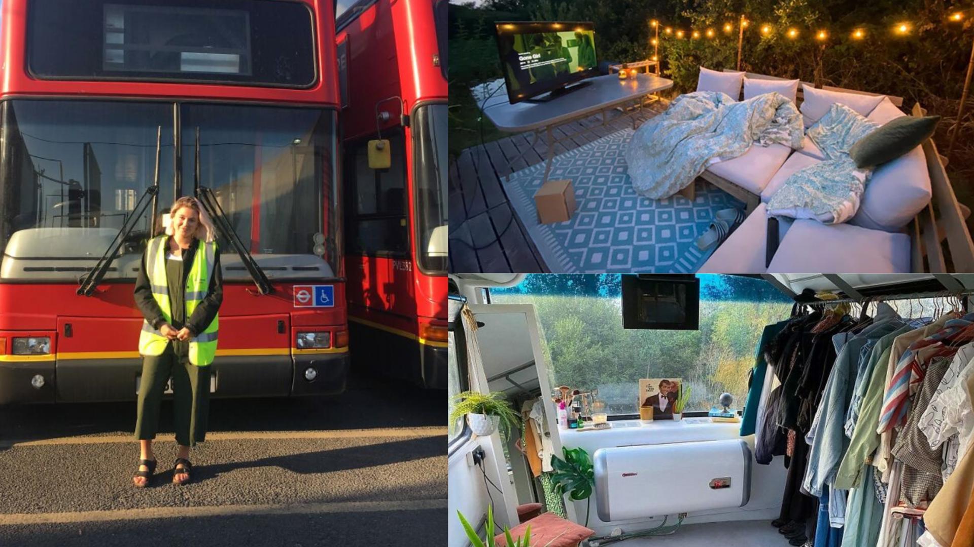 Pareja convierte un autobús de 2 pisos en una casa de lujo