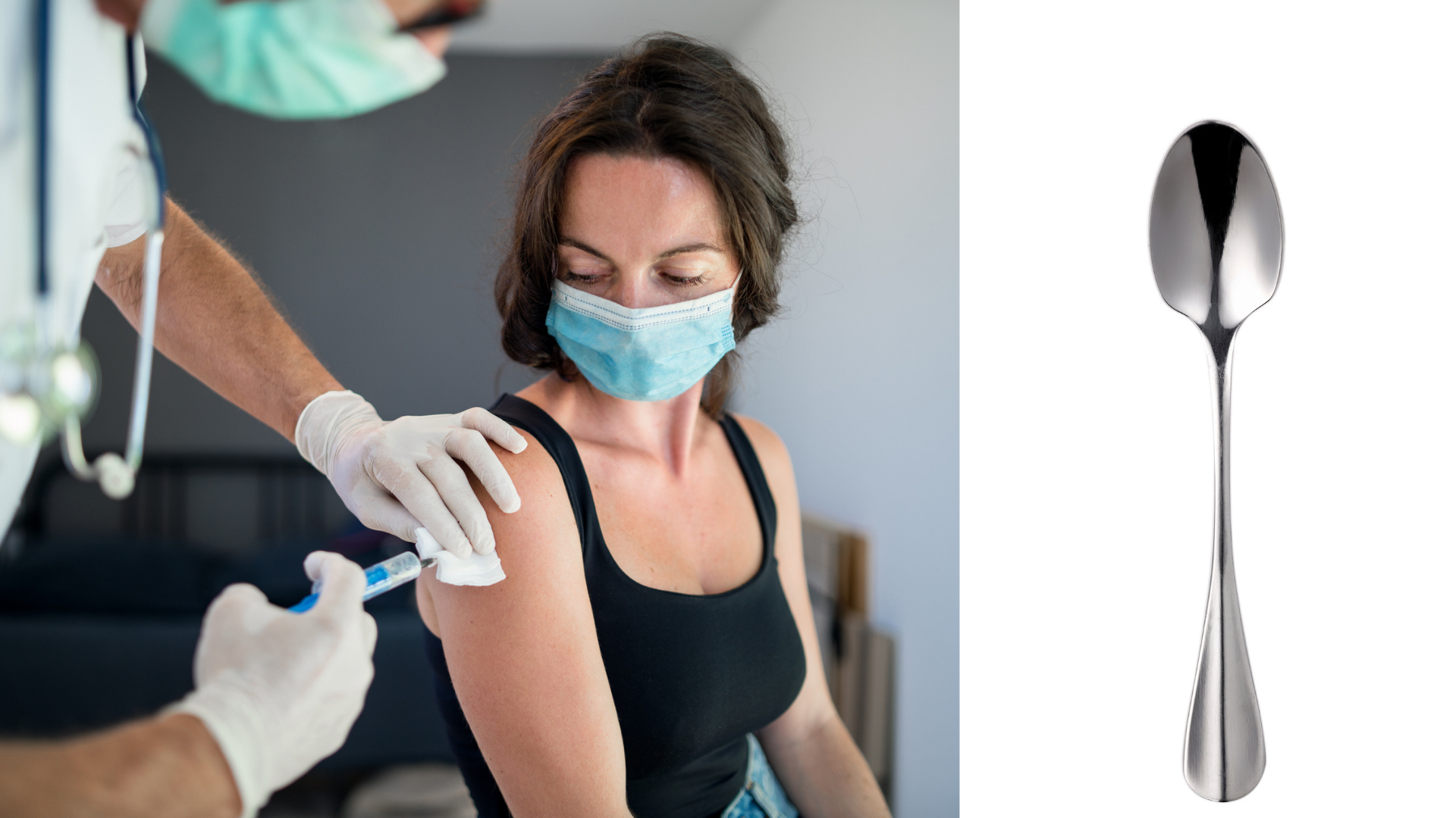 ¿Por qué se pegan las cucharas al brazo tras la vacuna?