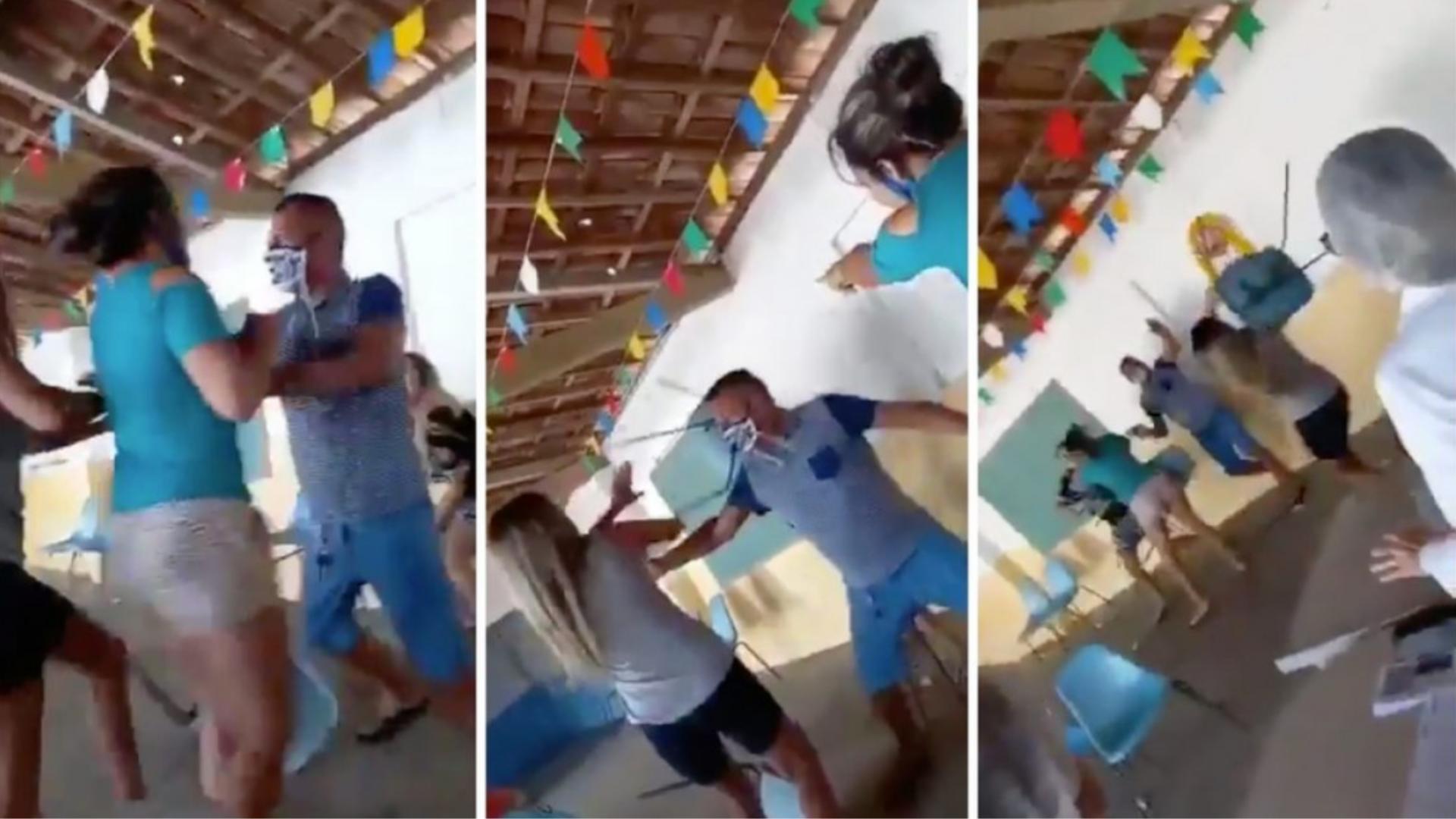 Hombre llega a la vacuna con su amante y se encuentra a su esposa