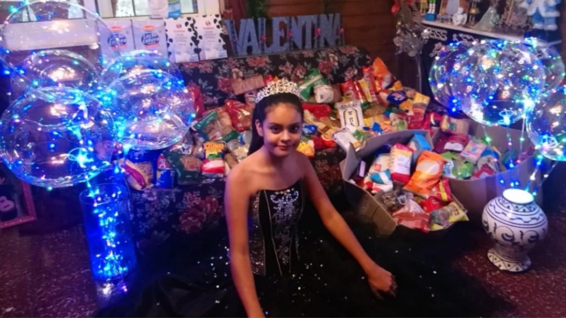 Festeja sus XV años y pide de regalo 1kg de alimento para donarlo
